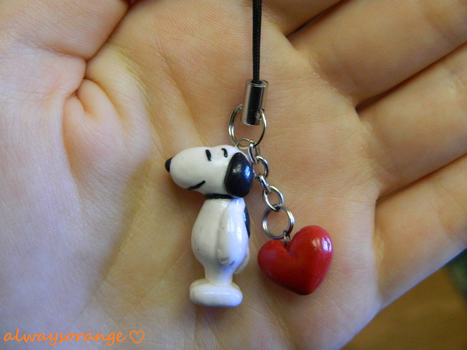 Snoopy Cell Phone Charm by alwaysorange