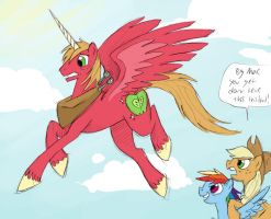 Alicorn Big Mac by LizzieDaKittie