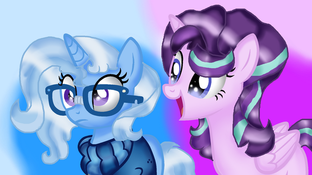 AU Starlight and Trixie by DoraemonFan4Life