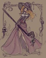 Dragon's Crown Sorceress Sketch by NoFlutter
