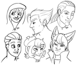 Character Busts by Fluffonmypants