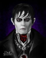 Digital Painting Depp As Barnabas by Adrian Lazo by DesignByLazo