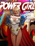 Powergirl Cosplay Pack for V4 and A4 by Terrymcg