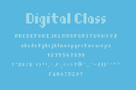 Digital Class Font by aquanetnightmare