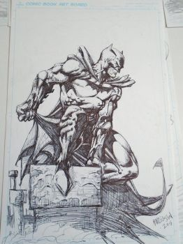 Batman sharpie by dogsoldierr