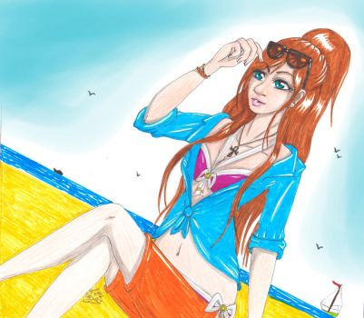 Summer Outfit - Mira (OC) by ALittleLady