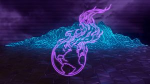 Burning Earth Neon Polygons 1920x1080 by imaximus