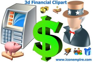 3d Financial Clipart by Ikont