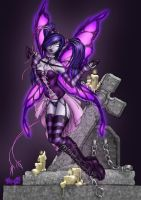 Goth Fairy by Kat by enigmawing