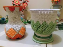 3d origami Vase and Urn by dfoosdc