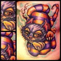 Cheshire Cat Tattoo by Searwen