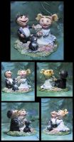 Wedding Cake Topper Sculpture by puimun