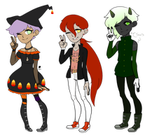 Halloween Adopts Auction (CLOSED) by PrinceAcidKitten