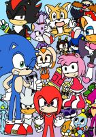 sonic cast colored by LeniProduction
