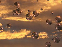 Watercolor Sky Bubbles 4 by FantasyStock