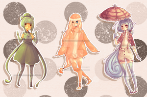 POKEMON KANTO STARTER GIJINKA ADOPTS: [1 LEFT] by morningdreams
