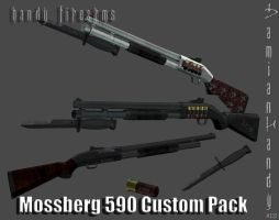 Mossberg 590 Custom pack + DL by sky-commander