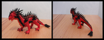 Red Fimo Dragon by RaoKaran