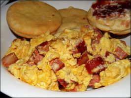 Chorizo and Old Cheddar Eggs by CorpusVermis
