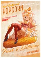 New Hot Buttered Popcorn Gal by MortMorrison