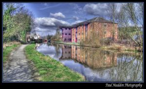 Daresbury canal HDR framed by Paul-Madden