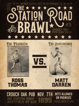 Create a Vintage Boxing Event Poster by simonh4