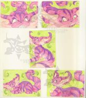 ACEO - The Cheshire Cat 1-5 by Ishaway