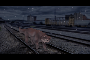 Hachi's last trip to the station by Makirou