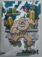 sketch card - Mad Scientist monster by tyrannus