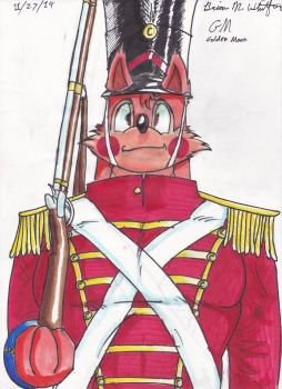 Wuffle as The Steadfast Tin Soldier by TheGoldenMoon