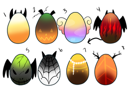Mystery Egg Adoptables Halloween *Auction* CLOSED by AllusiveHorizon