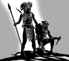 Aztec Warriors by greyorm