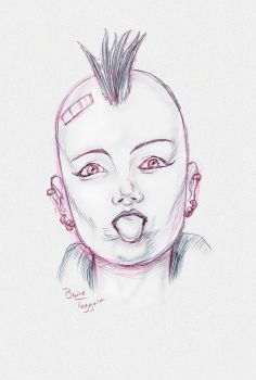 Punk Girl by staino