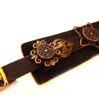Steampunk Leather Bondage Cuff by SteamSociety