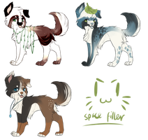 Border collie Adopts: Set one : CLOSED by Squidgystuff