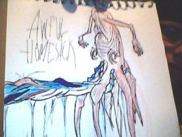 My take at Alex Pardee's 'Awful Homesick'' cover. by ENDYS-ART-HELL