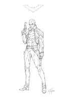 Red Hood Lines by n-pigeon