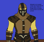 Midnight normal form hooded verison suit by Natalia-Clark