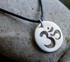 Om Necklace by MoonLitCreations