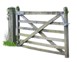 Wooden Farm Gate PNG.. by AledJonesStockNArt