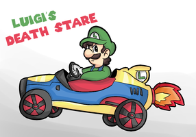Luigi's Death stare by thegamingdrawer
