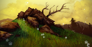 Dandelion Hill by daPatches