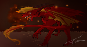 Fire in his Eyes by DragonBlueflame