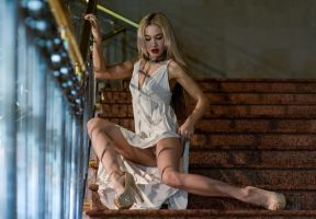 Russian beauty on the stairs 2 by MarcBergmann