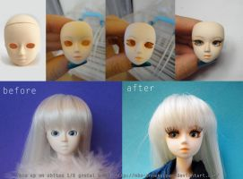 WIP - Obitsu doll 1-6  face up by Nko-ennekappao