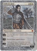 Magic Card Alteration: Gideon Jura by Ondal-the-Fool