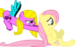 Honey Mist and Fluttershy by bettybop920
