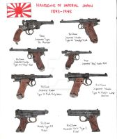 Japanese Pistols pre-1945 by stopsigndrawer81