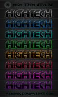 High Tech Text Styles by Romenig