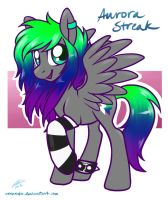 Everfree NW Raffle Winner - Aurora Streak by onnanoko